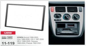 Переходная рамка Honda Accord, Civic, CR-V, HR-V, Odyssey, Prelude Carav 11-119