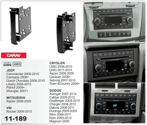 Переходная рамка Dodge Avenger, Caliber, Challenger, Durango, Nitro, RAM Carav 11-189