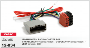 Переходник ISO Chrysler, Jeep, Dodge Carav 12-034