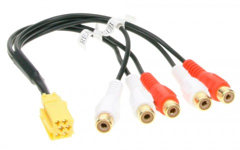 Адаптер линейных выходов Mini ISO-RCA ACV 1441-03