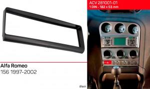Переходная рамка Alfa Romeo 156 ACV 281001-01