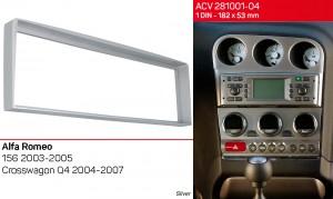 Переходная рамка Alfa Romeo 156 ACV 281001-04