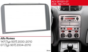 Переходная рамка Alfa Romeo 147, GT ACV 281001-07