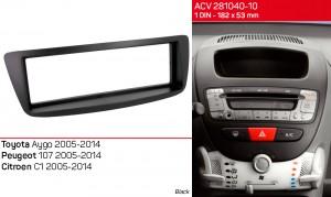 Переходная рамка Peugeot 107 ACV 281040-10