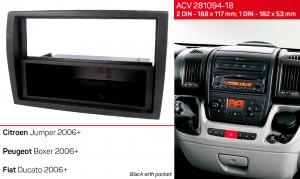 Переходная рамка Fiat Ducato ACV 281094-18