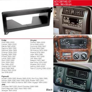 Переходная рамка Chrysler Sebring ACV 281145-01