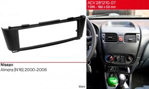 Переходная рамка Nissan Almera ACV 281210-07