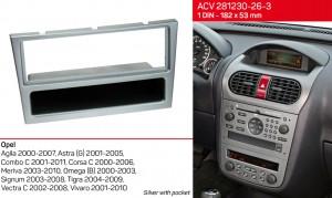 Переходная рамка Opel Agila, Combo, Corsa, Meriva, Omega, Signum, Tigra, Vectra, Vivaro ACV 281230-26-3