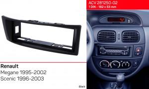 Переходная рамка Renault Megane, Scenic ACV 281250-02