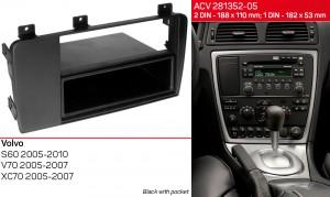 Переходная рамка Volvo S60, V70, XC70 ACV 281352-05