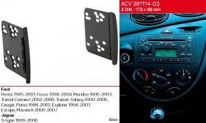 Переходная рамка Ford Transit, Fiesta, Focus, Galaxy, Mondeo ACV 381114-03