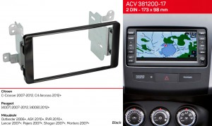 Переходная рамка Mitsubishi Outlander, ASX, Lancer, Pajero, Montero ACV 381200-17
