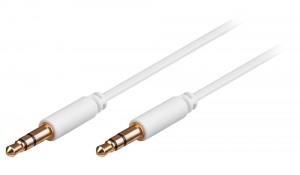 AUX кабель Jack 3.5 мм - 0.5 м белый AWM 110-01
