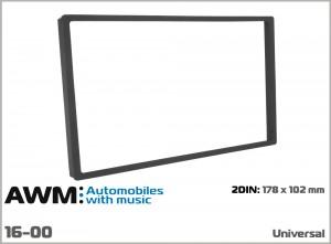 Рамка декоративная универсальная 2 DIN AWM 16-00