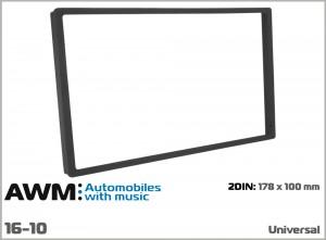 Рамка декоративная универсальная 2 DIN AWM 16-10