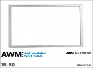 Рамка декоративная универсальная 2 DIN AWM 16-30