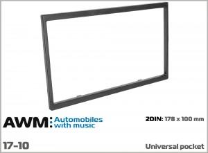 Рамка декоративная универсальная 2 DIN AWM 17-10