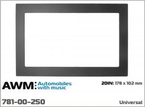 Рамка декоративная универсальная 2 DIN AWM 781-00-250
