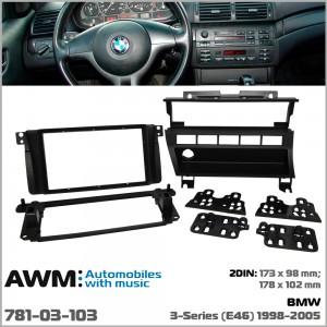 Переходная рамка BMW 3, E46 AWM 781-03-103