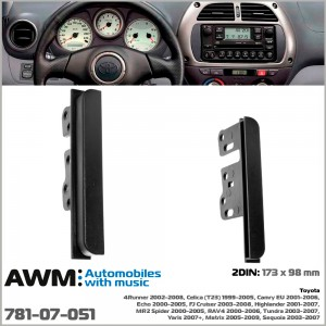 Переходная рамка Toyota 2 DIN AWM 781-07-051