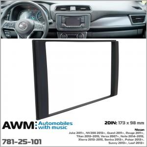 Переходная рамка для автомобилей Nissan AWM 781-25-101