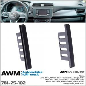 Переходная рамка для автомобилей Nissan AWM 781-25-102