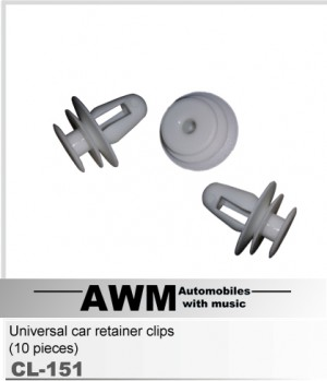 Универсальные дверные клипсы AWM CL-151 (10шт)