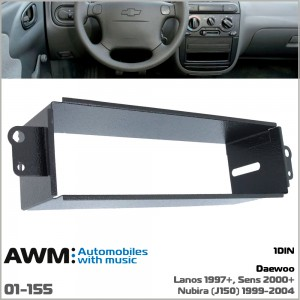 Шахта для крепления 1 DIN магнитолы Daewoo Lanos, Sens, Nubira AWM 01-155