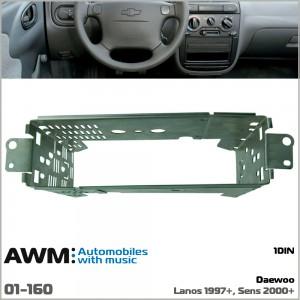 Шахта для магнитолы Daewoo Lanos AWM 01-160
