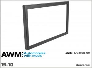 Рамка декоративная универсальная 2 DIN AWM 19-10
