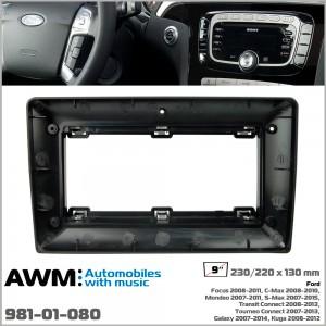 Переходная рамка Ford Focus, Mondeo, S-Max, C-Max, Galaxy, Kuga AWM 981-01-080