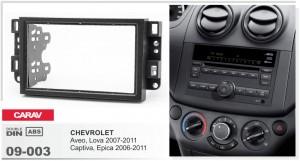 Переходная рамка Chevrolet Aveo, Captiva, Epica Carav 09-003