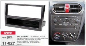 Переходная рамка Opel Agila, Astra, Combo, Corsa, Meriva, Omega, Signum, Tigra, Vectra, Vivaro Carav 11-027