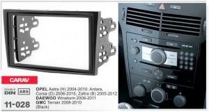 Переходная рамка Opel Astra, Antara, Corsa, Zafira Carav 11-028