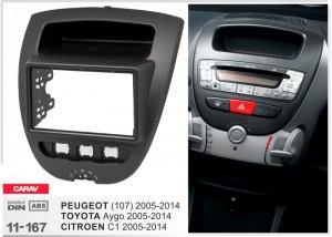 Переходная рамка Peugeot 107 Carav 11-167