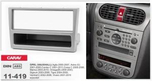Переходная рамка Opel Agila, Astra, Combo, Corsa, Meriva, Omega, Signum, Tigra, Vectra, Vivaro Carav 11-419