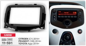 Переходная рамка Citroen C1, Peugeot 108, Toyota Aygo Carav 11-591