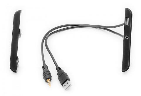 Переходная рамка Toyota с USB и AUX удлинителем Carav 11-712