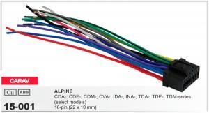 Разъем для магнитолы Alpine Carav 15-001