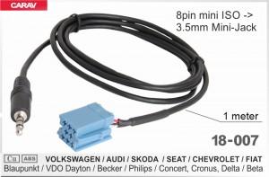 AUX кабель адаптер Volkswagen, Audi, Skoda, Seat, Chevrolet, Fiat Carav 18-007