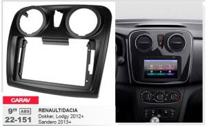 Переходная рамка Renault, Dacia Carav 22-151
