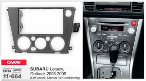 Переходная рамка Subaru Legacy Carav 11-664