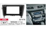 Переходная рамка Nissan X-Trail, Qashqai, Rogue Carav 22-478