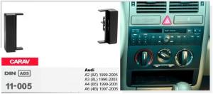 Переходная рамка Audi A2, A3, A4, A6 Carav 11-005