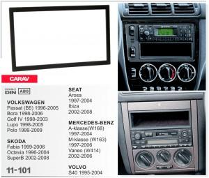 Переходная рамка Mercedes W168, W163, Vaneo, W414 Carav 11-101