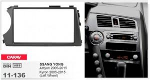 Переходная рамка SsangYong Actyon, Kyron Carav 11-136