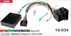 """Переходник для магнитол 9"""", 10.1"""" Renault Megane II Carav 16-034"""