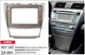 Переходная рамка Toyota Camry, Aurion, Daihatsu Altis Carav 22-001