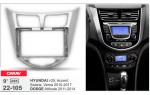 Переходная рамка Hyundai i25, Accent, Solaris, Verna, Dodge Attitude Carav 22-105