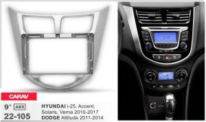 Переходная рамка Hyundai Accent, Solaris, Dodge Attitude Carav 22-105